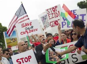 kurdsSaveourchildrenWhiteHouseDemoAug92014AP